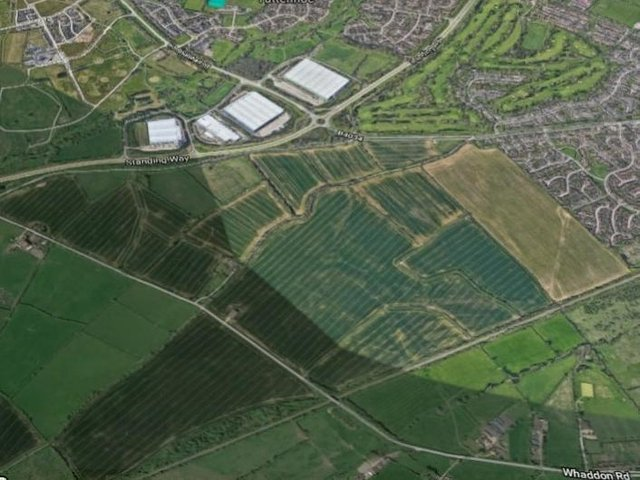 The site of the Salden Chase proposed development