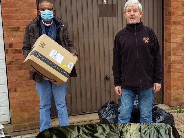 The Lions Club in Bletchley donated eight sleeping bags to Homeless MK