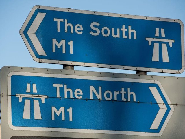 Traffic is staled on the M1 northbound after a smash between J14 and J15