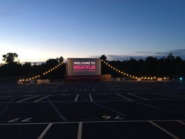 Nightflix, a drive-in cinema in Milton Keynes, will reopen on April 12