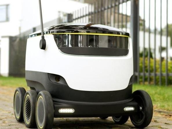 Radio One DJs Scott Mills and Chris Stark were stunned to discover robot deliveries in Milton Keynes