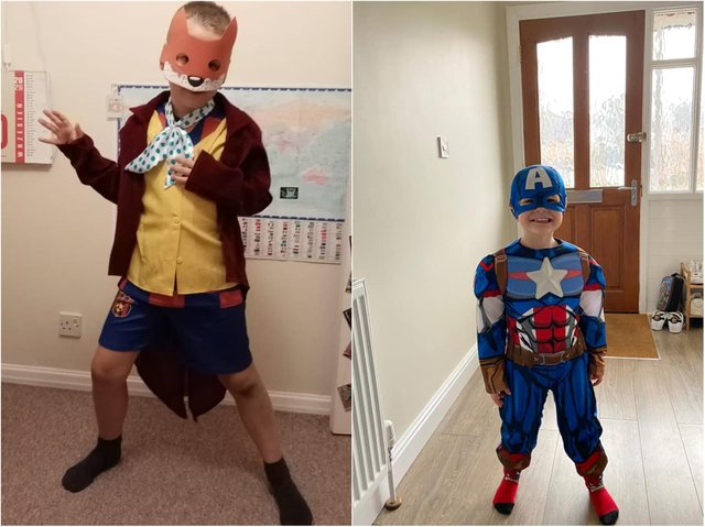 Adam and Archie, among hundreds of other children across the country, have become their favourite fictional characters today.