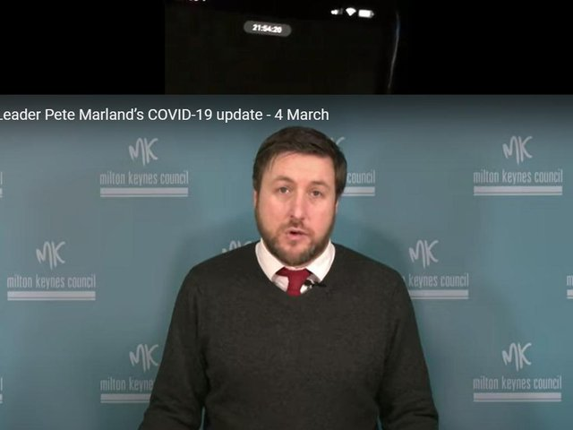 Council Leader, Peter Marland, believes 11,000 Covid tests were administered in Milton Keynes last week