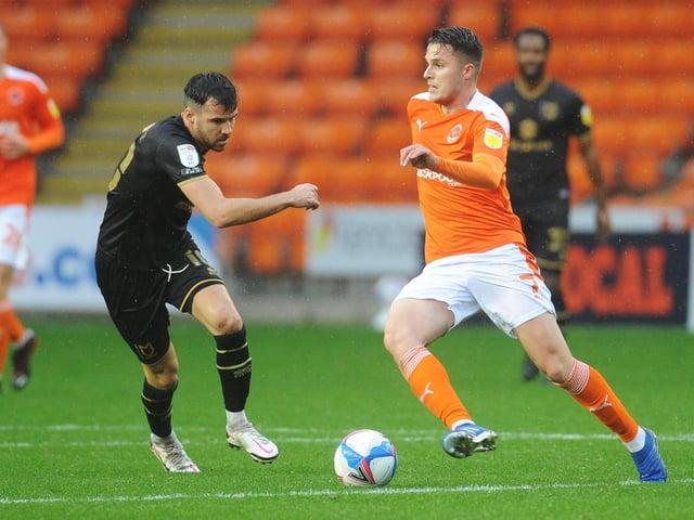 Scott Fraser against Blackpool earlier this season