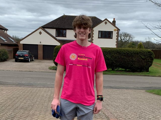Will Eastwood, 16, took on a major running challenge to raise funds for Brain Tumour Research