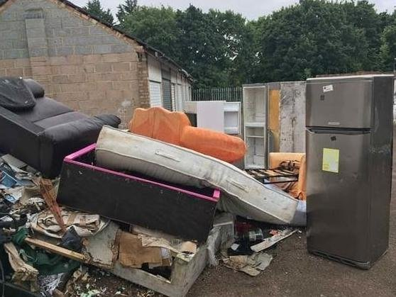 Flytipped rubbish