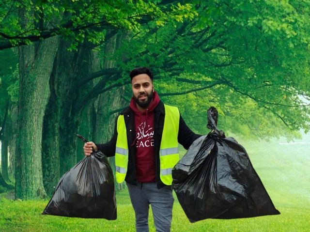 They aim to clear parks and walkways of litter