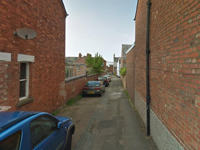 The victim was walking along the alleyway between Stratford Road and Church Street towards Wolverton Evangelical Church when he was approached by two men