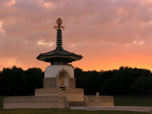 The Peace Pagoda. Photo: The Parks Trust