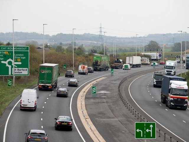 the Black Cat roundabout in Bedfordshire