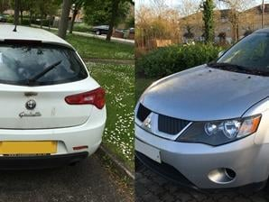 A man from Milton keynes was fined £3,000 after dumping these two vehicles illegally