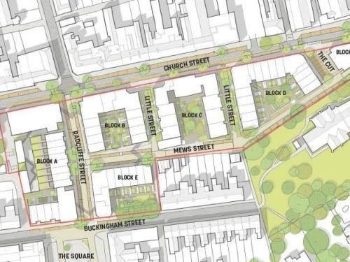 An artist's impression of the proposed Wolverton street layout