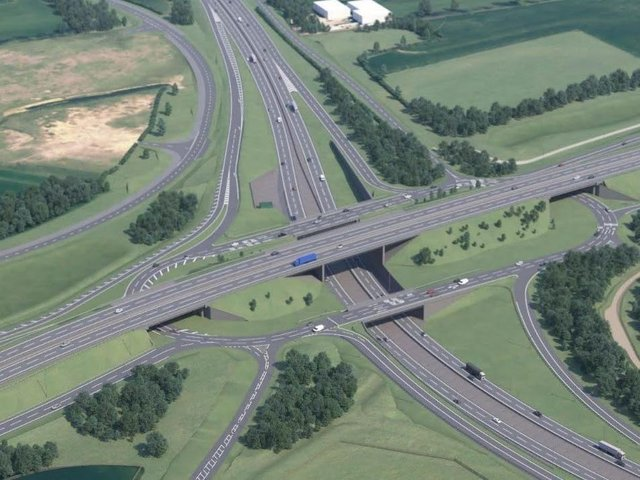 Once complete, the Black Cat roundabout in Bedfordshire will have three tiers