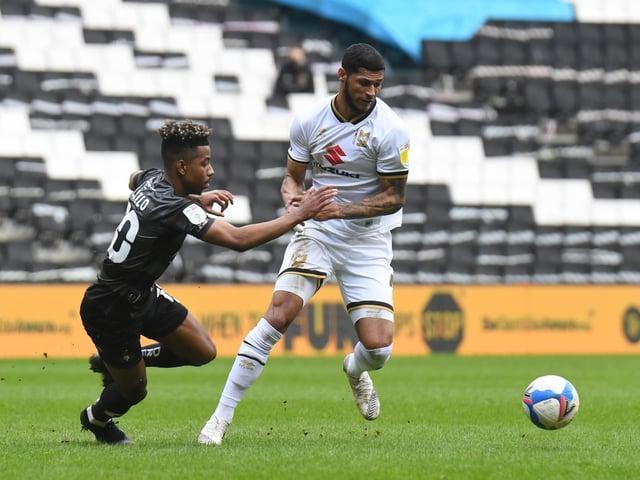 Zak Jules played at centre back against Doncaster