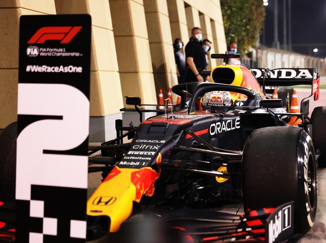 Max Verstappen had to settle for second spot in Bahrain