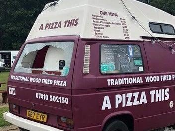 The Pizza This van is very popular with hungry visitors to Willen Lake