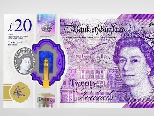 A genuine £20 note