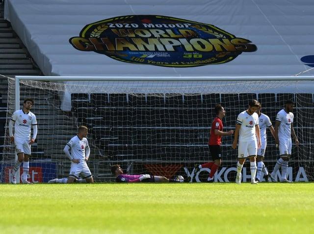 Crewe open the scoring through Mikael Mandron