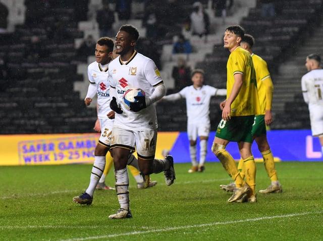 Kieran Agard scored twice against Norwich U21s - his only appearance of the season