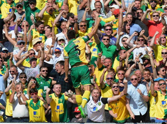 Russell Martin was captain for Norwich City during nearly a decade at Carrow Road