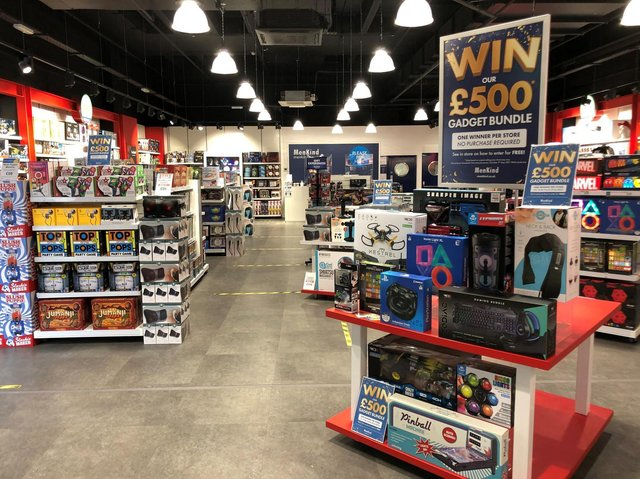 Some of the gadgets on offer at Menkind stores