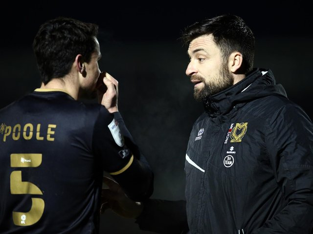 Regan Poole left Dons for Lincoln in January