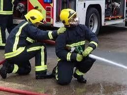 Firefighters were called to the Blue Lagoon this morning