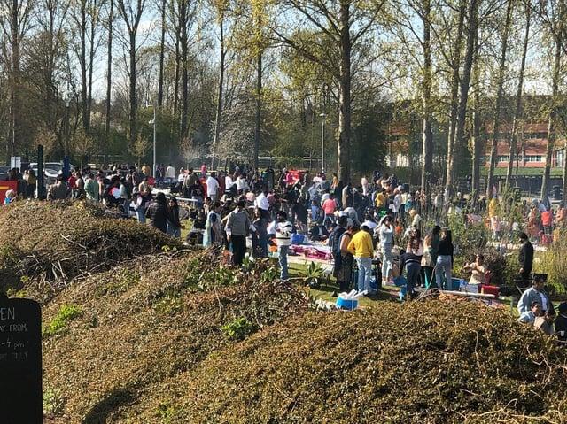 The Baisakhi celebrations at Willen Lake yesterday