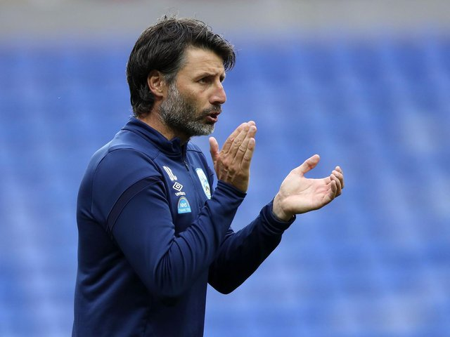 Danny Cowley took over at Portsmouth last month