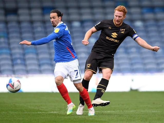 Dean Lewington in action against Portsmouth earlier this season