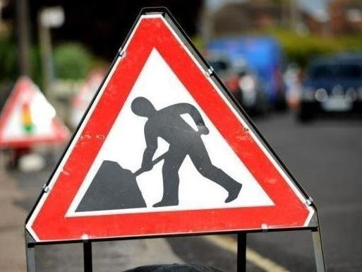 Roadwork has started to resurface Brinklow Roundabout
