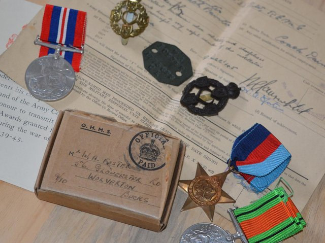 The medals and ID documents were being sold on eBay