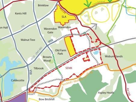 Possible grid road extensions (MK Council)