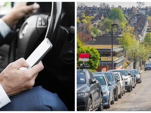 don't use your mobile phone unless your car is parked