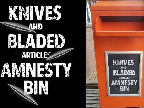 The knife amnesty bin will be at MK police station