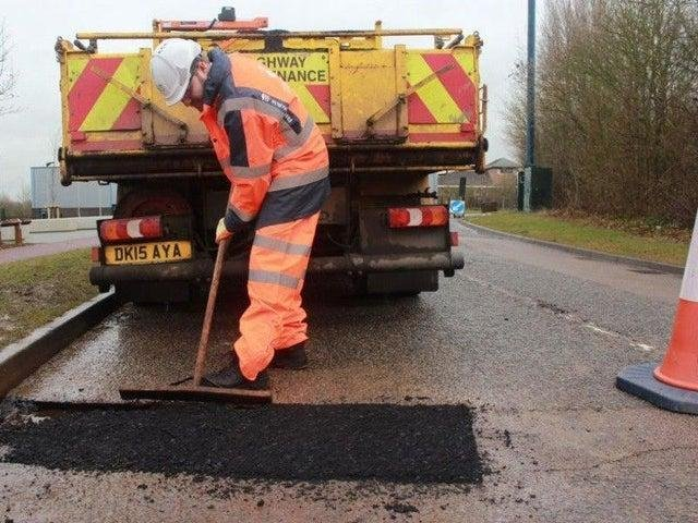 Potholes and other defects will be repaired