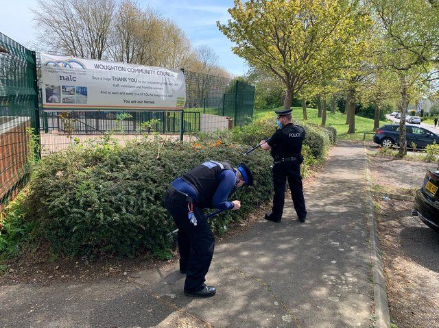 Thames Valley Police searching for bladed weapons in Milton Keynes