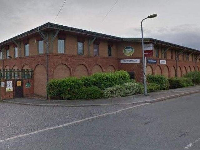 The cannabis factory was in the former Travis Perkins depot