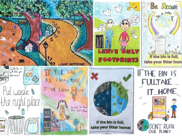 You can vote for the winning poster from this display