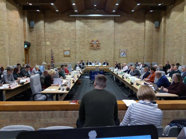 It will be 'impossible' to get all 57 councillors into the council chamber with social distancing guidelines
