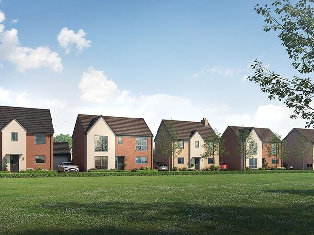 A computer-generated image of how the homes in Wavendon will look