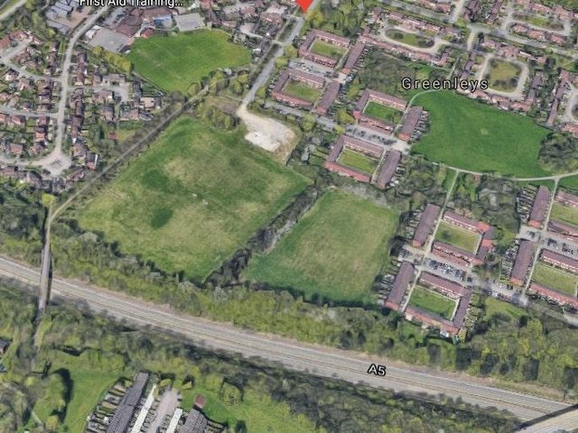 The land earmarked for homes in Greenleys