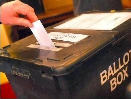 A ballot box holds the votes cast in a polling station