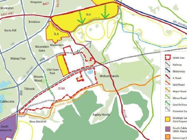 An image from consultation documents (MK Council)