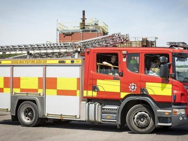 Milton Keynes firefighters attended to a burning washing machine on May 11
