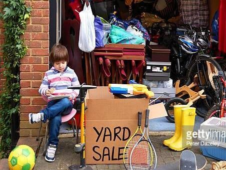 The garage sale is on Saturday