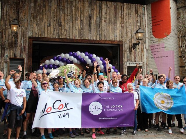 Celebrations following completion of the Jo Cox Way in London, 2019