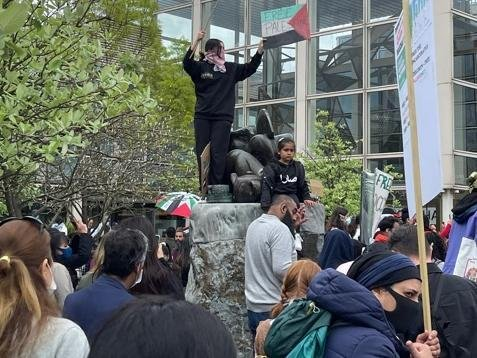 The demo was peaceful, say the organisers