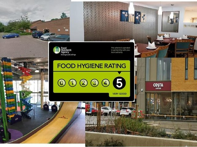 Among the places in Milton Keynes with a five star food rating