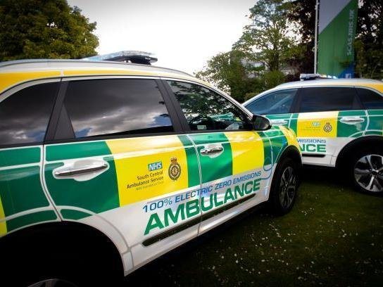 new fully electric South Central Ambulance Service vehicles